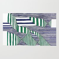 stripes Area & Throw Rugs featuring Stripes by Take F1ve