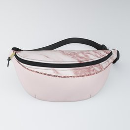 Spliced mixed pinks rose gold marble Fanny Pack