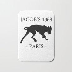 Black Dog Jacob's 1968 fashion Paris Bath Mat