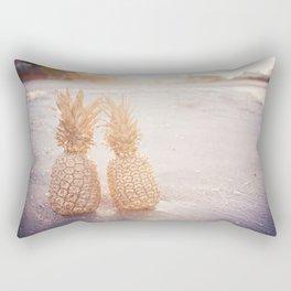 Golden Pineapples Rectangular Pillow