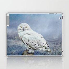Snowy Owl in mist Laptop & iPad Skin