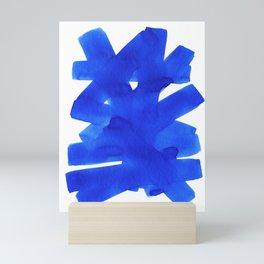 Superwatercolor Blue Mini Art Print