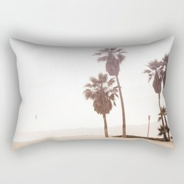 Vintage Summer Palm Trees Rectangular Pillow