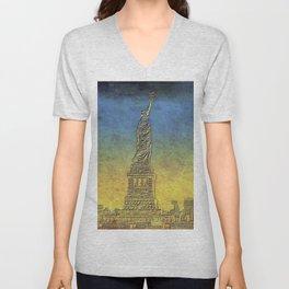 Lady Liberty #4 Unisex V-Neck