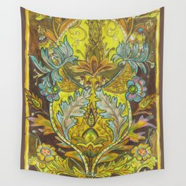 Lush yellows & Browns Wall Tapestry