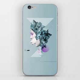 Faces Blue 02 iPhone Skin