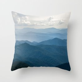 Smoky Mountain National Park Nature Photography Throw Pillow