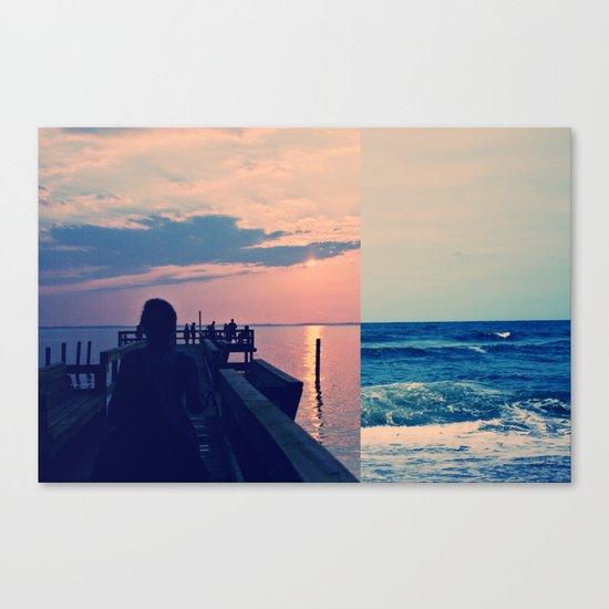 Tide Pier Canvas Print