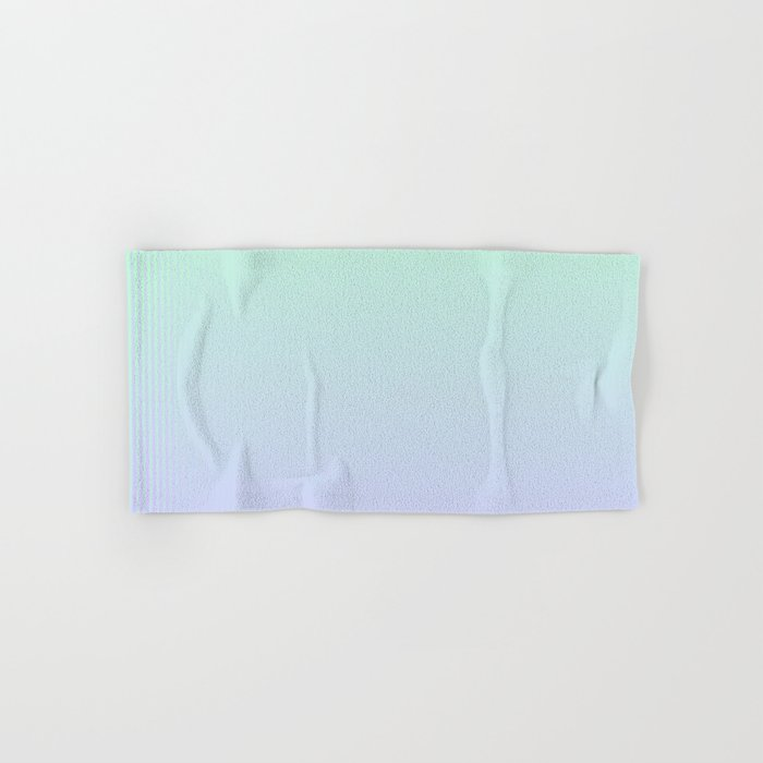 Mint Green and Lavender Ombre Hand & Bath Towel
