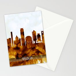 Brescia Italy Skyline Stationery Cards