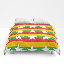 Flag of Myanmar 2-ဗမာ, မြန်မာ, Burma,Burmese,Myanmese,Naypyidaw, Yangon, Rangoon. Comforters