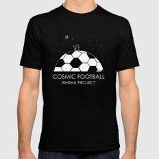 COSMIC FOOTBALL by ISHISHA PROJECT MEDIUM Black Mens Fitted Tee