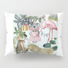 animals party (birthday) Pillow Sham