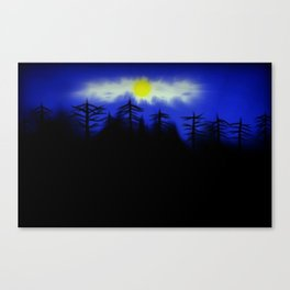 Spooky Forest Engulfs The Light Canvas Print