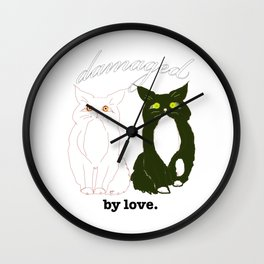 Damaged. by love Wall Clock