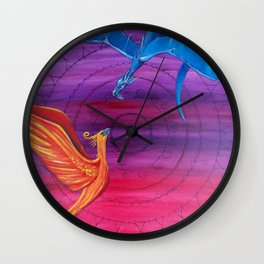Everlasting Love - Dragon and Phoenix Wall Clock