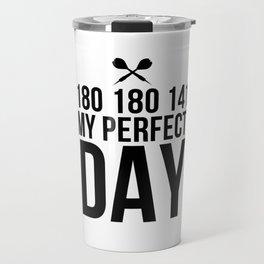 Perfect Dart Day   Darts Bullseye gift idea Travel Mug