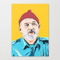 steve zissou Canvas Prints featuring Steve Zissou by Jeroen van de Ruit