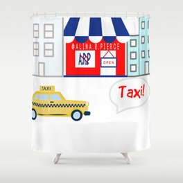 Taxi! - for arp - Shower Curtain
