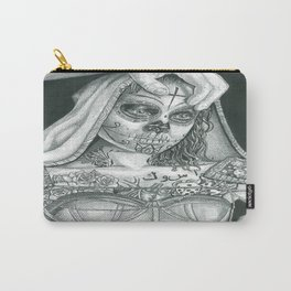 Sugarskull Tattooed Natalie Portman Carry-All Pouch