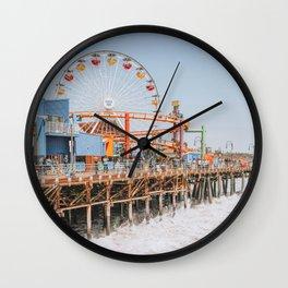 santa monica iii Wall Clock