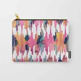 Peony Balinese Ikat Carry-All Pouch