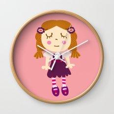 sleep doll Wall Clock
