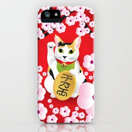 Sakura Maneki Neko iPhone Case