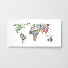 world currecy map Metal Print