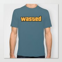wasted rita Canvas Prints featuring Wasted by D-fens
