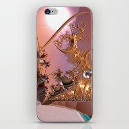 Magical rose gold morning iPhone Skin