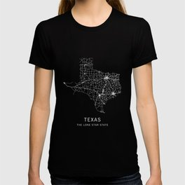 Texas State Road Map T-shirt