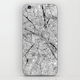 Paris White Map iPhone Skin