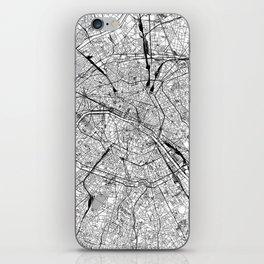 Paris White Map iPhone Skin