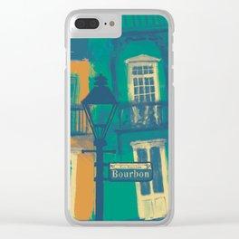 Bourbon Street Clear iPhone Case