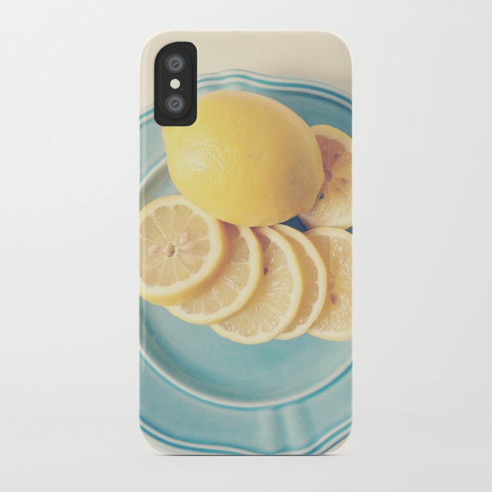 Lemons on Blue iPhone Case