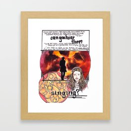 Doctor Who - Can you hear them singing Framed Art Print
