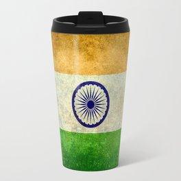 Flag of India - Retro Style Vintage version Travel Mug