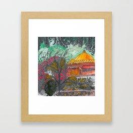 Mandala Temple Framed Art Print