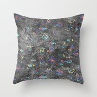 egyptian Throw Pillows featuring EGYPTIAN by sametsevincer