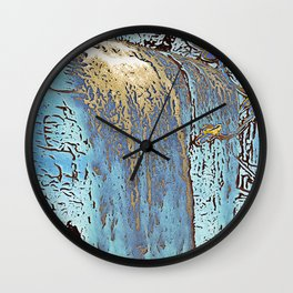 "series waterfall ""Cachoeira Grande"" III Wall Clock"