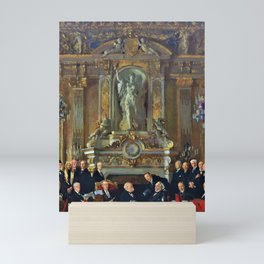 12,000pixel-500dpi - A Peace Conference at the Quai d'orsay - Sir William Orpen Mini Art Print