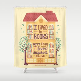 Lived in books Shower Curtain
