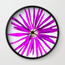 Purple Starburst Flower by Aloha Kea Photography Wall Clock