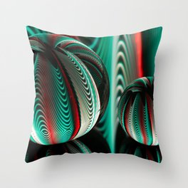 Waves in two crystal balls. Throw Pillow