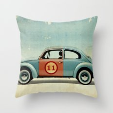 number 11 Bug Throw Pillow