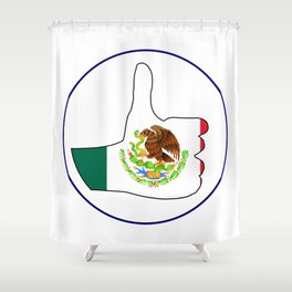 Thumbs Up Mexico Shower Curtain