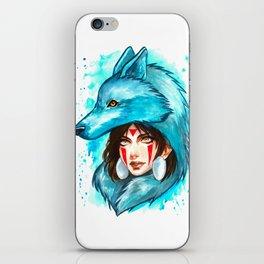 princess mononoke studio ghibli iPhone Skin