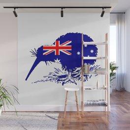 Australian Flag - Kiwi Bird Wall Mural