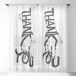 Thank You Sheer Curtain